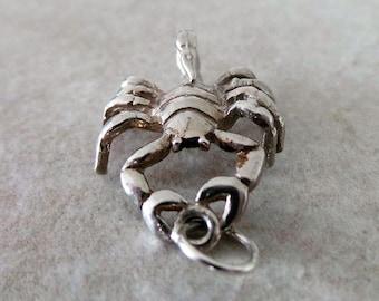 Vintage 925 Sterling Silver Scorpion, Zodiac Scorpio Charm