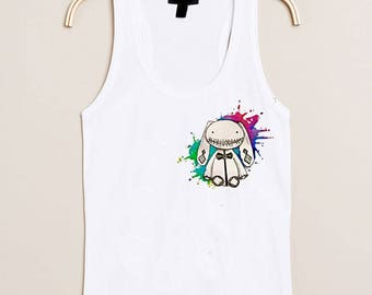 """Stuffed rabbit"" watercolor print T-Shirt"