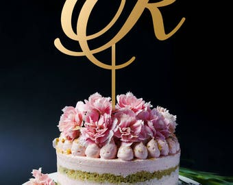 Monogram Cake Topper | Initial Cake Topper | Single Letter Cake Topper | Wedding Cake Topper