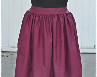 Burgundy Cotton Tower of Terror LadyTremaine Mother Gothel  Jasmine Gryffindor Character Bounding Skirt in Plus size 2X