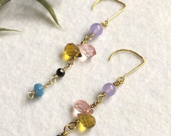 Candy coloured earrings