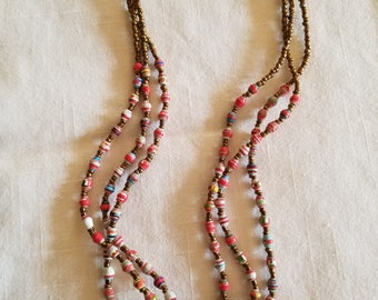 Ugandan Paper Bead Necklace