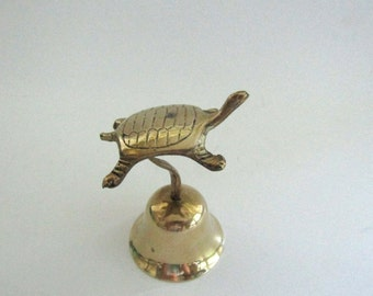 Brass Bell with Turtle