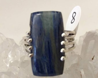 Azurite Party Ring  Size  8
