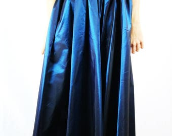 1960s Blue Iridescent Vintage Skirt