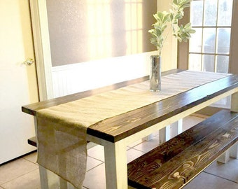 Pioneer Style Farm Table