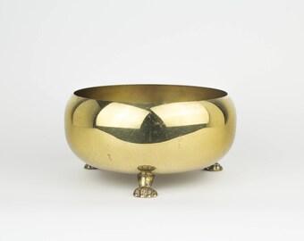 Vintage 3  Lion Footed Bowl - Home Decor - Altar - Decorative - Plant Holder - Stand  - Hollywood Regency