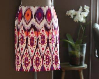 Jersey Skirt, Knee Length Skirt, Fitted Skirt