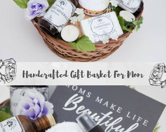 Spa gift basket etsy all natural pregnancy gift basket new mom gift basket new baby gift basket negle Image collections
