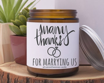 Thank you for Marrying Us Gift, Wedding Officiant Gift, Gift for Wedding Officiant, for Wedding Officiant, Wedding Officiant, Wedding Candle