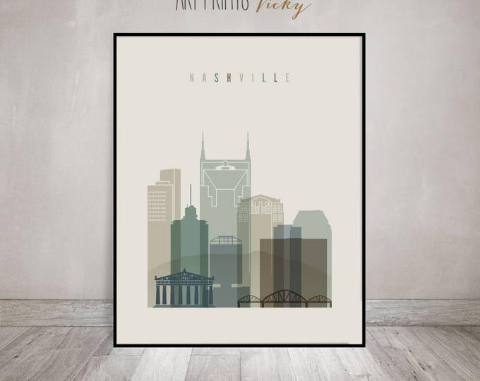Nashville skyline, Nashville print, Poster, Wall art, Tennessee, City poster, Typography art Home Decor, Digital Print ArtPrintsVicky