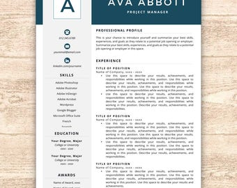 Resume Language Monogram Resume Template Professional Resume Free Resume Template For A Resume Pdf with What Is A Resume Cover Letter Resume Template Monogram Resume Resume Template Instant Download Resumes  Cover Letter  Resume Download Chrome Excel