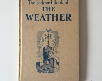 Vintage Retro Rare 1960s 60s Ladybird childrens kids book - The Weather 1963