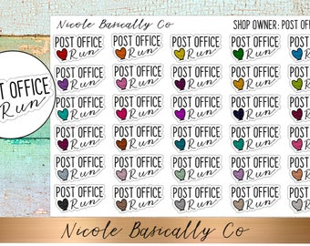 Shop Owner- Post Office Run Planner Stickers