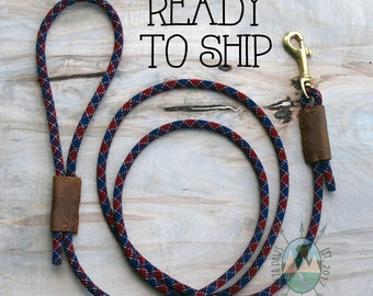 READY to SHIP! 6FT Sangria Leash || Rock Climbing Rope Dog Leash || Handmade in the USA