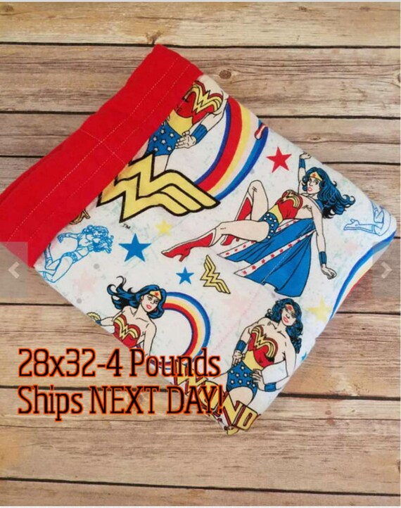 Super Hero, 4 Pound, WEIGHTED BLANKET, 4 pounds, 28x32, for Autism, Sensory, ADHD, Calming, Anxiety,