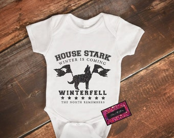 Geek Baby Onesie - House Stark Winter Is Coming