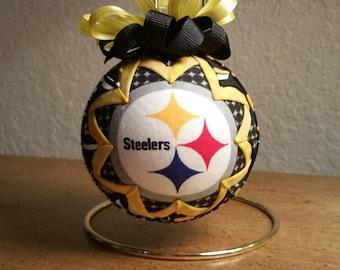 Pittsburgh Steelers Ornament, Steelers Keepsake, Quilted Ornament