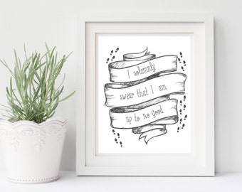 Harry Potter print, harry potter quote printable, 8x10 harry potter art