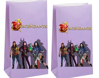 Disney Descendants Party Favor Bags ~ Descendants Birthday Party Inspired Decorations & Decor