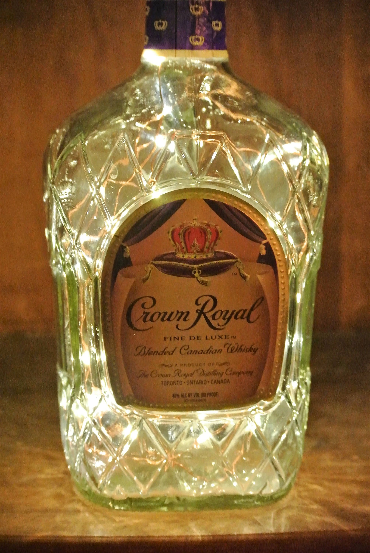 Crown Royal Bottle / Fairy Lights In Bottle / Man Cave Light / Liqour Bottle  Light
