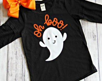 Toddler Halloween Shirt, Ghost Shirt, Boo Shirt, Halloween Shirt for Girls, Halloween, Ghost, Halloween Outfit, Oh Boo Shirt