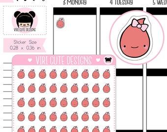 Period Tracker Stickers   Kawaii   Hand drawn   Period   Cute   Blood   Planning   Tracker Stickers   Viri Cute Designs   122
