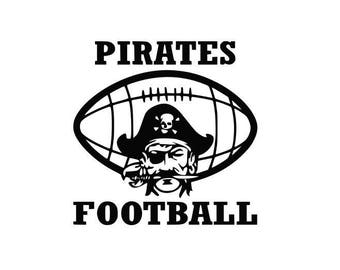 Pirates Football high school college SVG File Cutting, DXF, EPS design, cutting files for Silhouette Studio and Cricut Design space