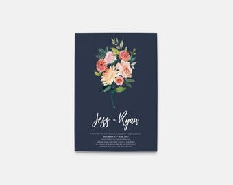Wedding Invitation | Printable Wedding Invitation | Wedding invitations | Floral Wedding | Wedding Invites | Ivy Blue Suite