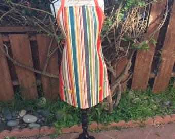 Apron/ Bright stripes