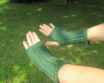 Dark Green Wrist Warmers