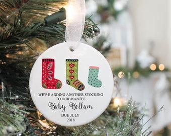 Pregnancy Ornament- Expecting Ornament- Christmas Pregnancy Reveal -New Parents ornament- Christmas Pregnancy Announcement