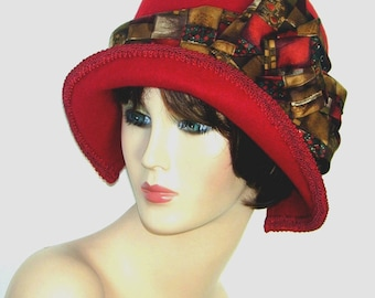 Felted wool cloche ~ Miss Fisher Custom Convertible 6 in 1  - Downton Abbey hat, Great Gatsby hat