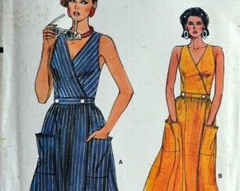 1980s Vogue Vintage Sewing Pattern 9276, Size 12; Misses' Dress