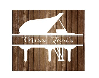 Piano split letter monogram   SVG   cut file  t-shirts scrapbook vinyl decal wood sign cricut cameo Commercial use