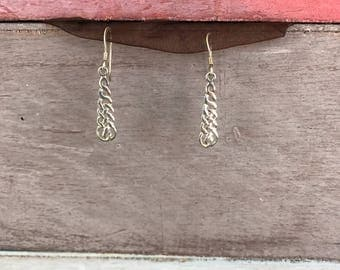 Celtic Irish Twisted Knot Sterling Silver Earrings