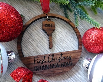 First Christmas House - Christmas Ornament New Home - Christmas Ornament House - New Home Ornament 2017 - First Home Ornament - Home Gift