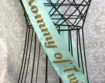Mommy of Twins Baby shower sash