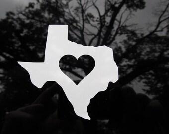 Love Texas Vinyl Decal Free Shipping