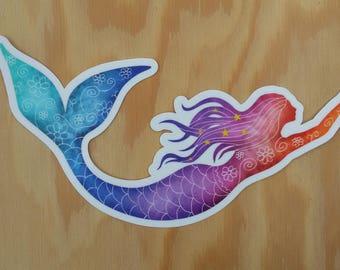 Mermaid Tail Sticker Etsy