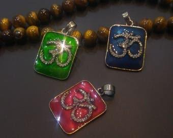 Pave Diamond OHM Pendant - Om 925 Sterling Silver Pendant - High Quality OM Pendant- Pave OM Necklace -