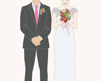 Custom Couple Portrait for wedding gift ever