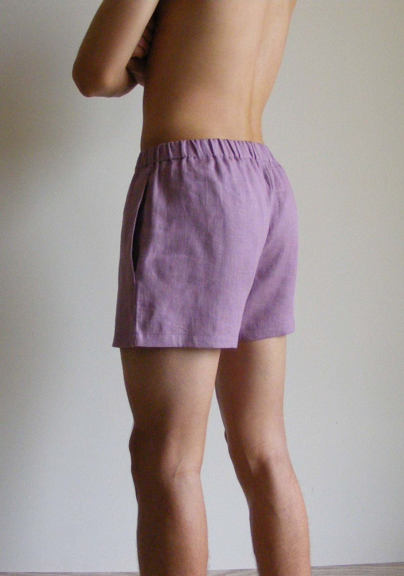 Simply Mens Linen Shorts / Dusty Pink / 100% Linen / Men's Linen Shorts / Boxers / Boxer Shorts