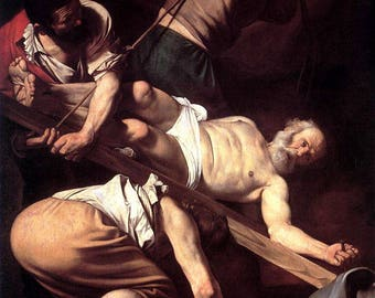 Crucifixion of Saint Peter by Caravaggio - Poster A3 or A4 Matt, Glossy or Art Canvas Paper