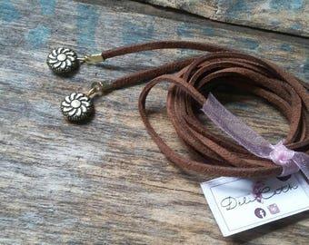 Choker necklace, Choker, necklace Choker from Sweden, versatile, trendy necklace, Choker brown suede Choker, multiple styles multiple ways