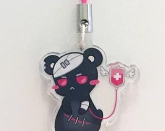 Dark Menhera Patient Hamster Acrylic Charm