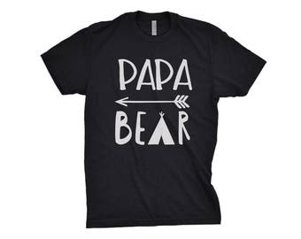 PAPA BEAR Tshirt - Premium Black Tees or Standard cotton - Expecting father gift for dad Baby shower gift Fathers day Birthday gift for dad