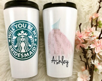 Will You Be My Bridesmaid Gift, Stainless Steel, Personalized Starbucks Cup, Bridesmaid Proposal, Bridesmaid Box Gift, Bridesmaids Gifts