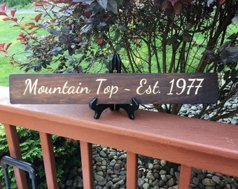 Custom Engraved Wooden Sign | Personalized engraved sign | Personalized Sign | Rustic Wooden Sign