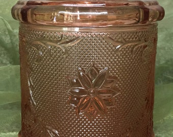 Vintage Glass Canister with Lid